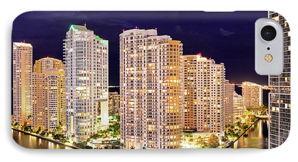 Brickell Key, Maimi, Florida IPhone Case by Craig McCausland