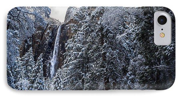Bridal Veil Falls In Winter IPhone Case