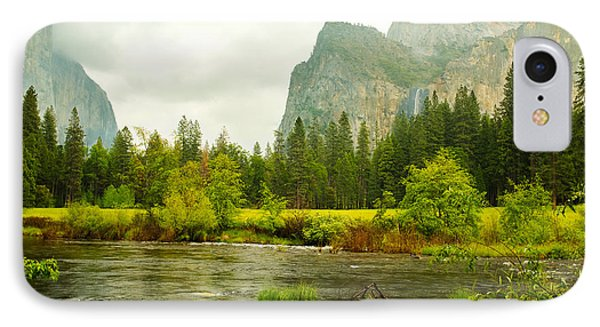 Bridal Veil Falls In Yosemite National Park IPhone Case by MaryJane Armstrong