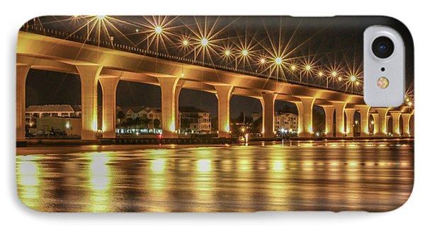 Bridge And Golden Water IPhone Case