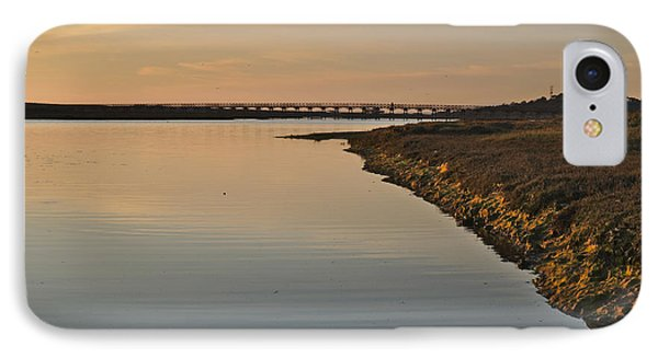 Bridge And Ria At Sunset In Quinta Do Lago IPhone Case by Angelo DeVal
