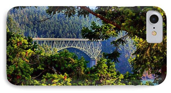 Bridge At Deception Pass IPhone Case by Michelle Joseph-Long