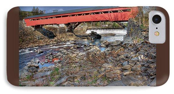 Bridge At Taftsville Vermont IPhone Case by Michael Ciskowski