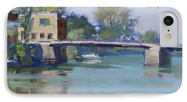 Bridge At Tonawanda Canal IPhone Case by Ylli Haruni