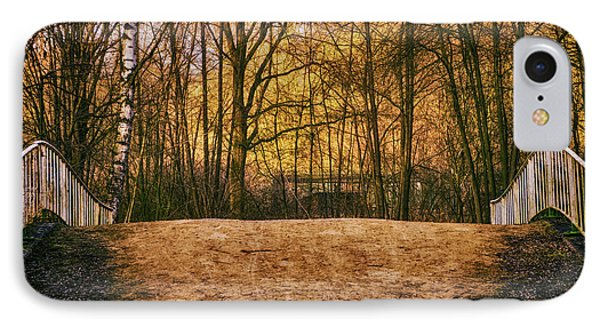 Bridge In Park IPhone Case by Wim Lanclus