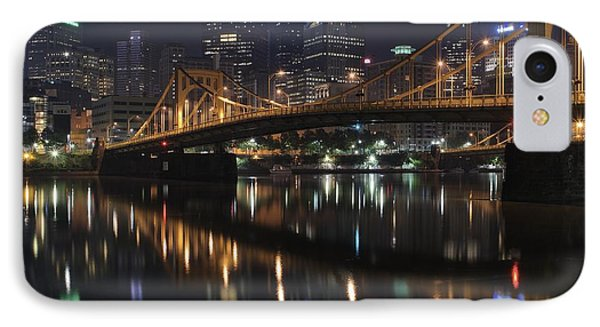 Bridge In The Heart Of Pittsburgh IPhone Case by Frozen in Time Fine Art Photography