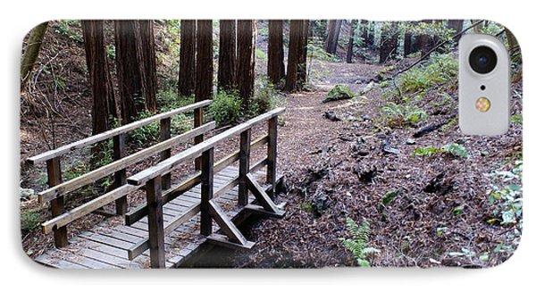 Bridge In The Redwoods IPhone Case by Ben Upham III