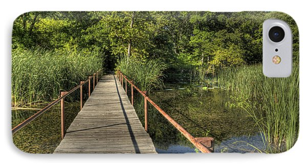 IPhone Case featuring the photograph Bridge Into The Forest At Lake Murray by Tamyra Ayles
