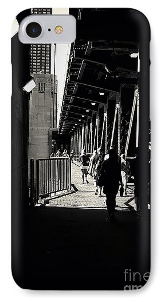 Bridge - Lower Lakeshore Drive At Navy Pier Chicago. IPhone Case by Frank J Casella