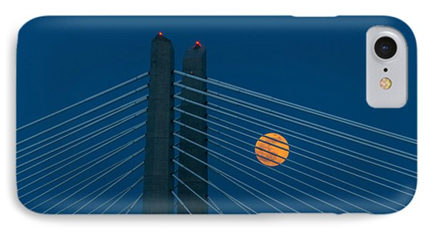 IPhone Case featuring the photograph Bridge Moon by Jerry Cahill