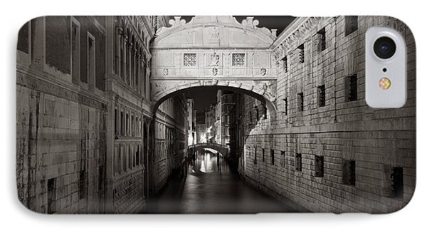 Bridge Of Sighs In The Night IPhone Case by Marco Missiaja