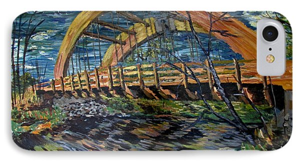 Bridge On County Rd. 27 IPhone Case by Denny Morreale