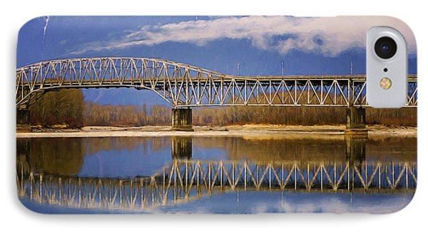 IPhone Case featuring the photograph Bridge Over Calm Waters by Jordan Blackstone