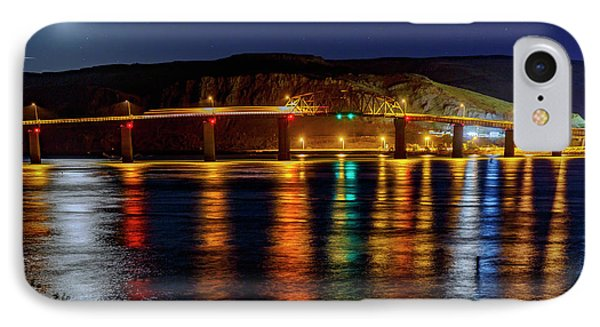 IPhone Case featuring the photograph Bridge Over Columbia Waters by Cat Connor