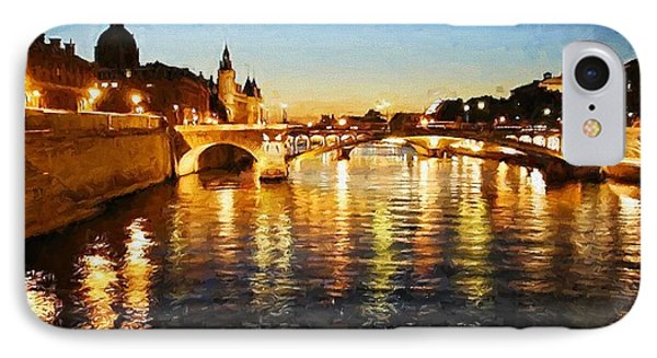 Bridge Over The Seine IPhone Case
