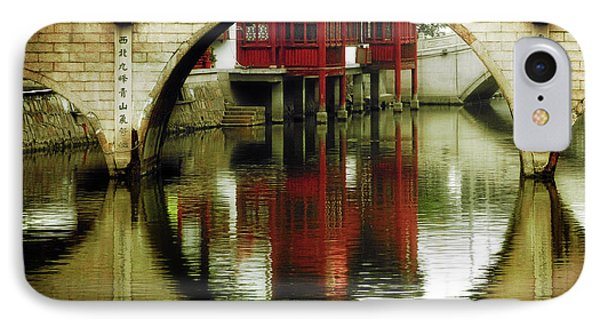 Bridge Over The Tong - Qibao Water Village China Phone Case by Christine Till