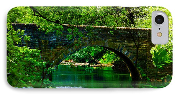 Bridge Over The Wissahickon Phone Case by Bill Cannon