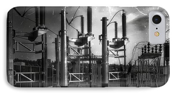 Bridge St Power Substation 2 - Spokane Washington Phone Case by Daniel Hagerman