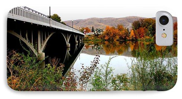 Bridge To Downtown Prosser IPhone Case by Carol Groenen