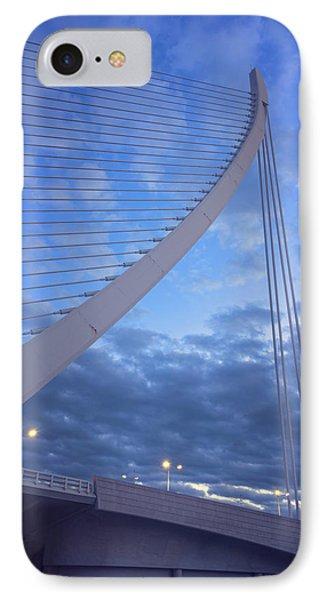 Bridge Valencia Spain IPhone Case by Joan Carroll