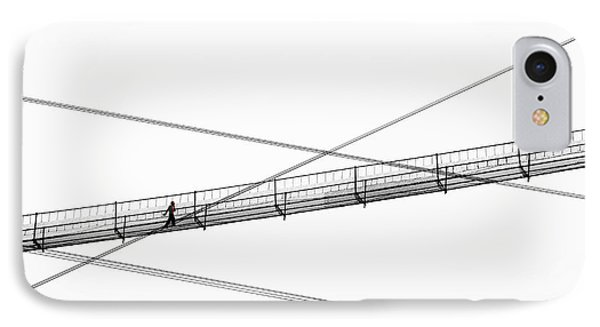 IPhone Case featuring the photograph Bridge Walker by Joe Bonita