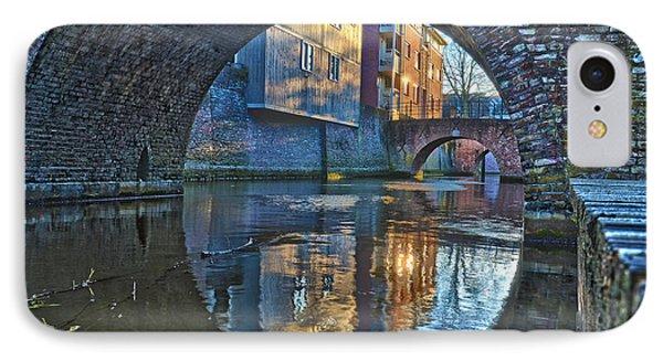 Bridges Across Binnendieze In Den Bosch IPhone Case by Frans Blok