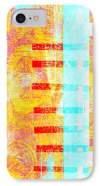 Bridges And Barriers Colorful Abstract IPhone Case by Carol Leigh