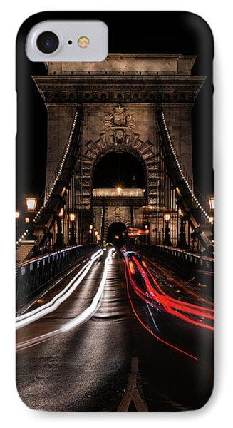 Bridges Of Budapest - Chain Bridge IPhone Case by Jaroslaw Blaminsky