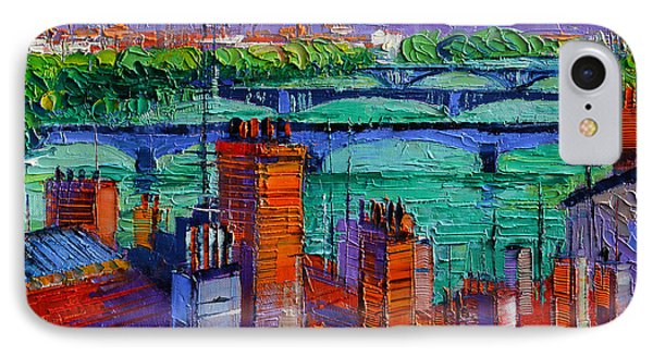 Bridges Of Lyon IPhone Case by Mona Edulesco