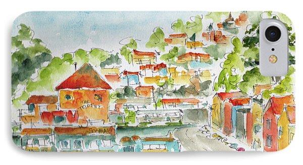 IPhone Case featuring the painting Bridgeway Boulevard Sausalito by Pat Katz