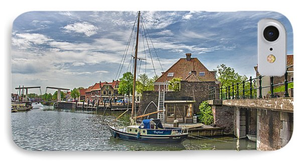 IPhone Case featuring the photograph Brielle Harbour by Frans Blok