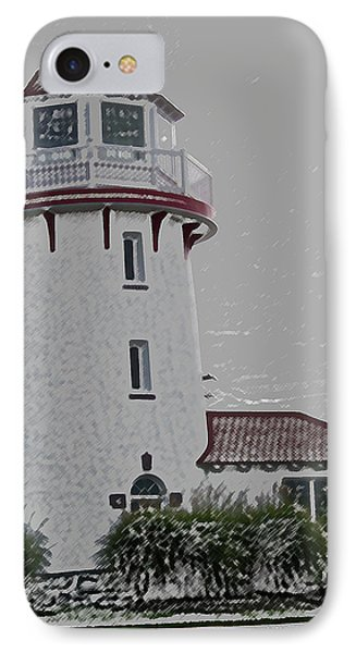 Brigantine Lighthouse IPhone Case by Trish Tritz
