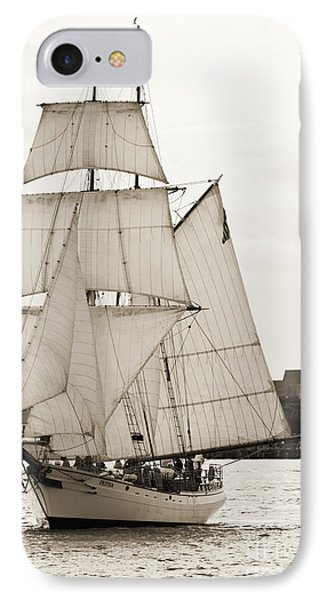 Brigantine Tallship Fritha Sailing Charleston Harbor IPhone Case