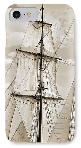Brigantine Tallship Fritha Sails And Rigging IPhone Case by Dustin K Ryan