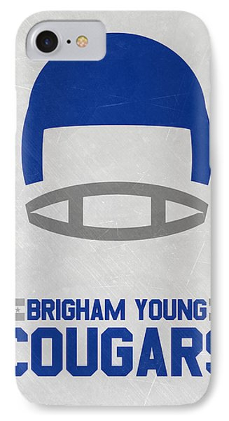 Brigham Young Cougars Vintage Football Art IPhone Case
