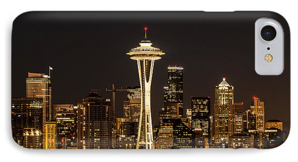 Bright At Night - Space Needle IPhone Case