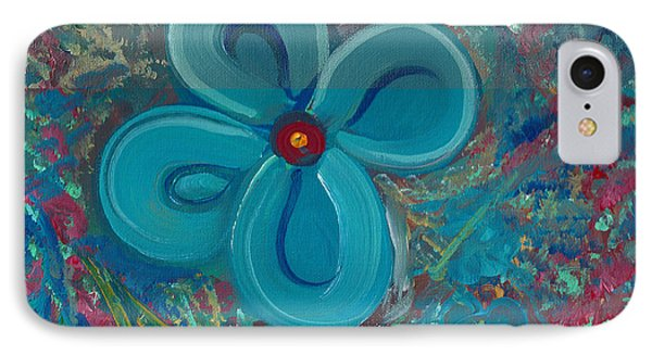 IPhone Case featuring the painting Bright Blue by John Keaton