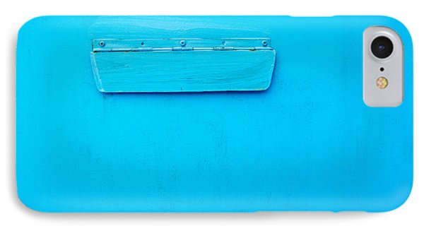 Bright Blue Paint On Metal With Postbox IPhone Case by John Williams
