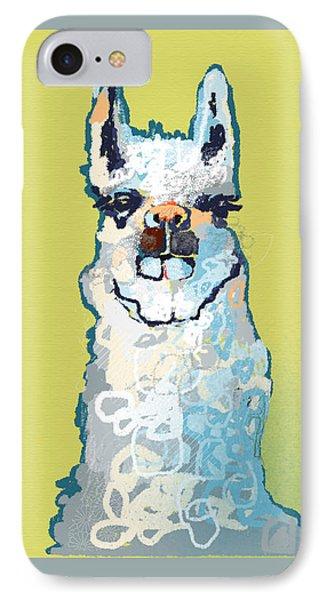 Bright Mustard Llama IPhone 7 Case