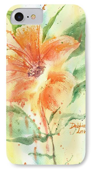 Bright Orange Flower IPhone Case