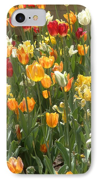 IPhone Case featuring the photograph Bright Tulips by Michael Flood