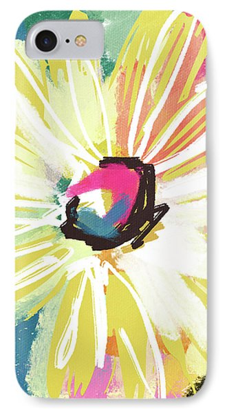 Bright Yellow Flower- Art By Linda Woods IPhone Case by Linda Woods