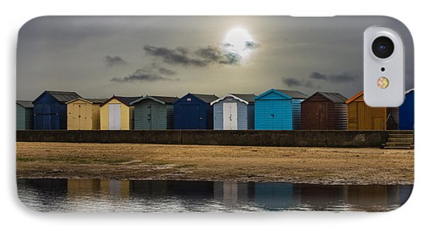 Brightlingsea Beach Huts IPhone Case by Martin Newman
