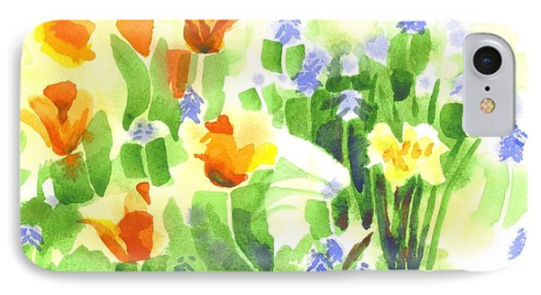 IPhone Case featuring the painting Brightly April Flowers by Kip DeVore
