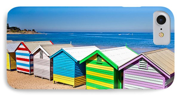 Brighton Beach Huts IPhone Case