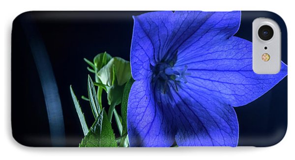 Brilliant Blue Balloon Flower IPhone Case by Douglas Barnett