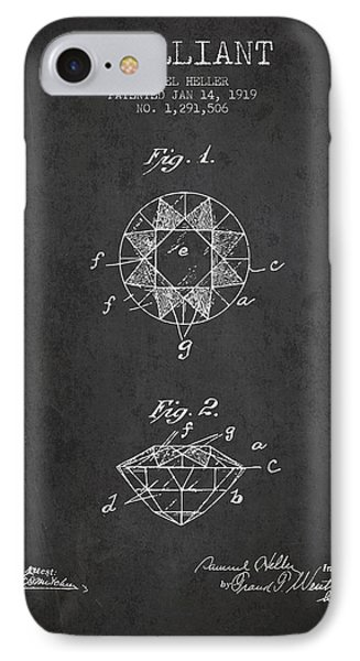 Brilliant Patent From 1919 - Charcoal IPhone Case by Aged Pixel