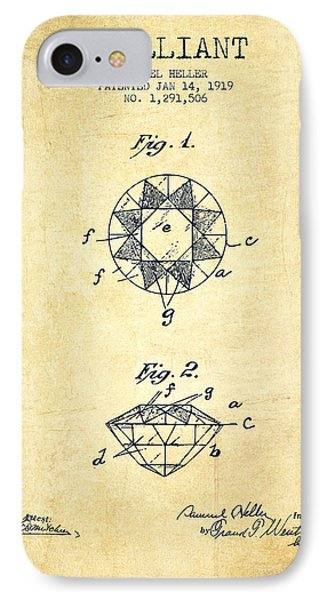 Brilliant Patent From 1919 - Vintage IPhone Case by Aged Pixel