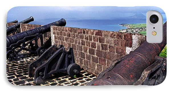 Brimstone Hill Fortress Canons Phone Case by Thomas R Fletcher