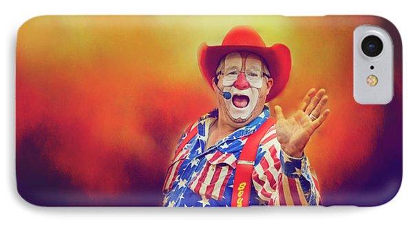 Bringing Fun To The Rodeo Greek Ellick Jr.  IPhone Case by Toni Hopper